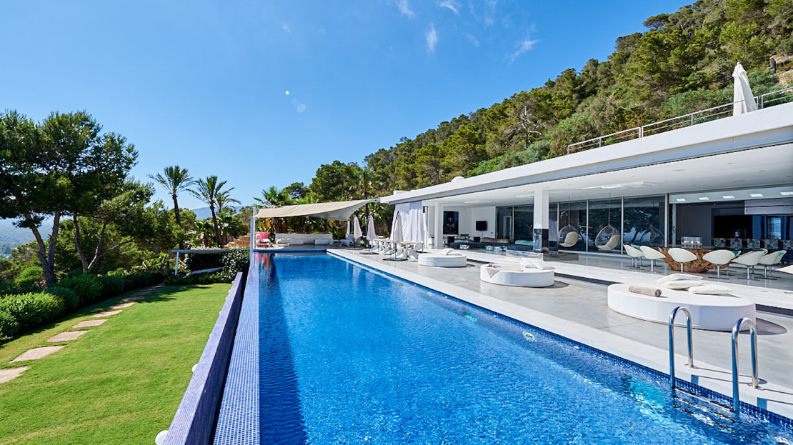 The most luxury home to rent in Cala Jondal, Balearic island, Spain