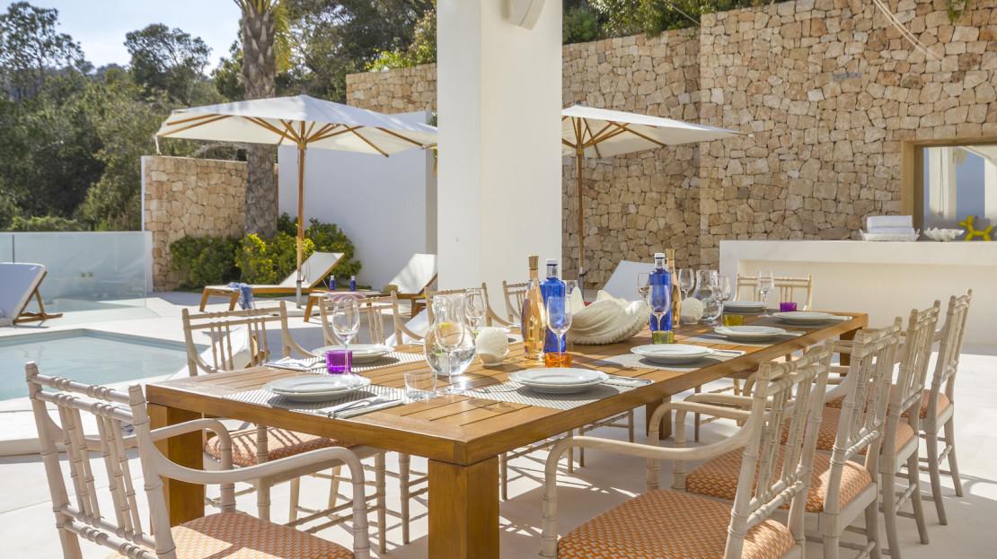 Ibiza luxury retreat rental Villa, 24hrs security, Spain
