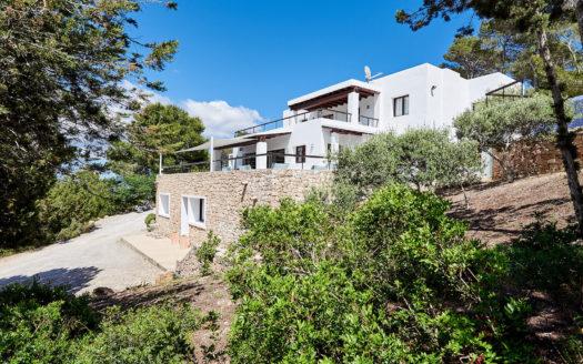 Gran casa con piscina privada, en alquiler vacacional cerca de San José, en Ibiza